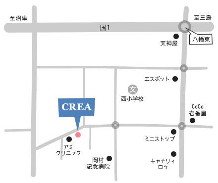 CREAアクセスマップ